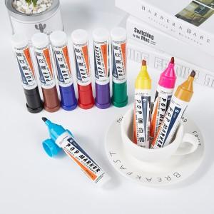宝克(BAOKE)6mm 12色POP唛克笔套装 海报广告画笔 彩色马克笔记号笔 MK840-6