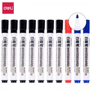 得力(deli)白板笔套装 可擦易擦 办公会议 7黑2蓝1红 办公用品