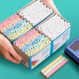 金隆兴(Glosen)粉笔白色粉笔儿童涂鸦笔绿板黑板报用笔无尘粉笔 普通白色粉笔1盒(100支) 6730