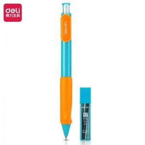 得力(deli)矫姿正姿活动铅笔套装 学生自动铅笔 0.7mm 附HB铅芯 33298蓝
