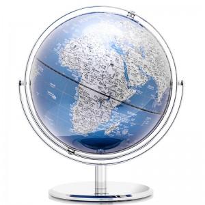 得力(deli)万向地球仪 直径30cm高清地图学生教学演示摆件金属底座地球仪 2163
