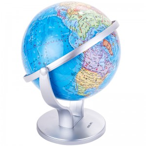 得力(deli)Ф20cm商务万向地球仪摆 商务礼品居家摆设 办公用品 2174