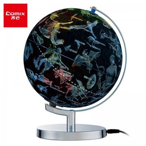 齐心(Comix) φ25cm星座LED带灯地球仪 学生用摆件 中英文教学演示 B1016