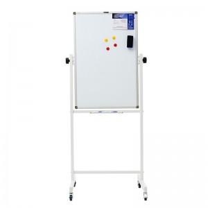 晨光(M&G)支架式白板H型架可移动翻转白板双面磁性办公会议写字板 单个带包装 60*90厘米ADB98342