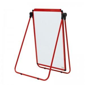 晨光(M&G)ADB98346C U型架易擦白板可翻转双面磁性写字板 (红)600*900mm 单个