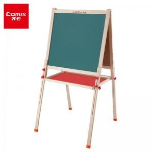 齐心(Comix)69*66cm实木可升降双面磁性多功能学生儿童板粉笔绿板写字板安全环保无甲醛 BB7661