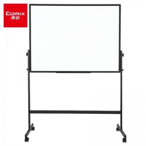齐心(Comix) 90*120cm可移动H型支架会议白板磁性办公演示板写字板高度可调节 BH9012
