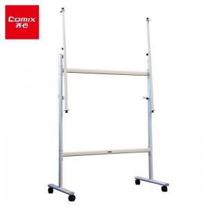 齐心(Comix)可调式移动办公会议教学白板架白板支架黑板架 带脚轮 BJ0101