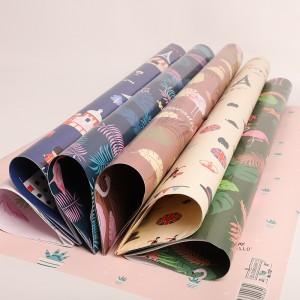 佳妍礼品包装纸鲜花生日礼物礼盒包书皮纸情人节礼物送女友包装DIY手工纸墙纸课本彩色图案纸10张
