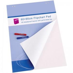 AUCS 白板纸60*90cm 50张 挂纸夹纸白板专用纸 广告会议写字板海报宣传纸 VCPAD50