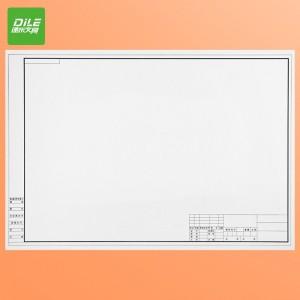 递乐  加厚A2工程绘图纸建筑设计学生机械制图纸有框空白绘图白纸 6521  A2有框绘图纸(10张)