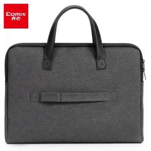 齐心(Comix)时尚商务加厚手提公文包事务包电脑包 陨石黑A8117