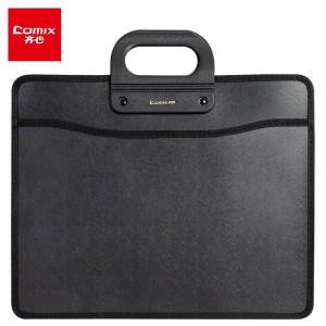 齐心(Comix) A1332 移动办公事务包/A4公文包/手提包黑色 办公文具