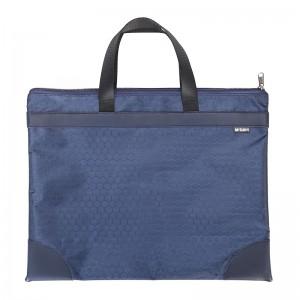 晨光(M&G)文具A4蓝色纹手提会议包 事务包 大容量商务公文拉链袋 资料袋文件袋 单个装ABBN3047