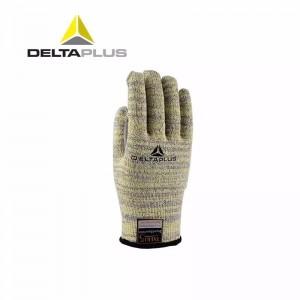 代尔塔 工作劳保手套 餐饮工厂 耐高温100度 耐磨防切割 拇指加强 米黄色