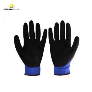 代尔塔 201631 劳保手套 工作手套 透气舒适 乳胶涂层抗撕裂 蓝色