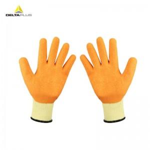 代尔塔 劳保手套 工作手套 透气 乳胶涂层防撕裂 9# 201730 橙色