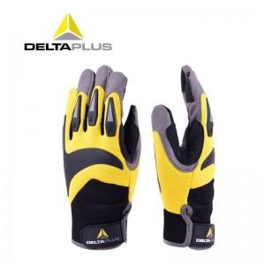 代尔塔 高空户外运动手套 适用于攀岩绳索作业 耐磨防护透气舒适安全骑行 209902