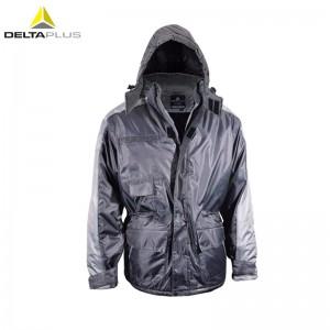 代尔塔 /DELTAPLUS 405422 405423 PU涂层Oxford极低温防寒背服 防寒背带裤 灰色 1件