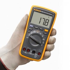 福禄克 (FLUKE) 万用表 数字万能表 F17B+ 高精度掌上型多用表电容频率温度 智能仪器仪表 FLUKE-17B+