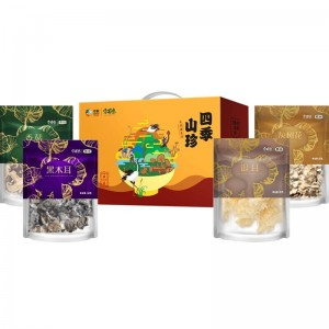中粮安荟堂山珍礼盒干菌菌菇木耳鸡枞菇猴头菇大礼包礼品团购 四季山珍A型300g