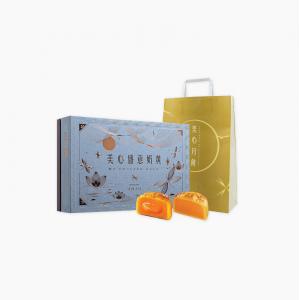 中国香港美心流心四式流心蛋黄月饼礼盒流沙奶黄蛋黄芝士巧克力焦糖中秋 盛意奶黄月饼