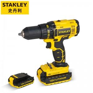 史丹利(Stanley)锂电版18V充电式电钻手电钻起子电动螺丝刀家用多功能电动工具箱(吹塑箱)SCD20C2K-A9