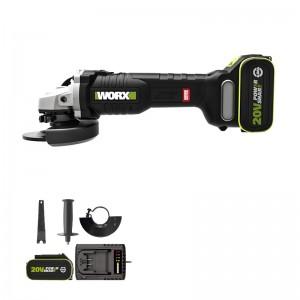 威克士(WORX)工业级充电无刷角磨机WU808无线切割机打磨机开槽机抛光机磨光机手磨机五金电动工具