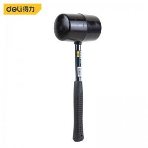 得力(deli) 橡塑锤钢管柄橡胶锤子安装锤橡皮榔头24oz DL5624