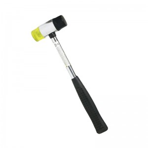 得力(deli)钢管柄安装锤橡皮锤 橡胶安装锤 瓷砖榔头30mm DL5330