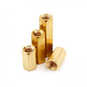 捷诺立(JNL) L10070 双通六角铜柱黄铜隔离柱螺母柱空心铜立柱机箱铜螺柱主板铜支柱 M3*6mm 100只装
