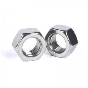 捷诺立(JNL) 55622 304不锈钢螺母六角螺母六角螺帽螺丝帽 M5 (200只装)