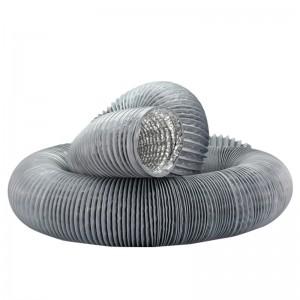 pvc铝箔风管排烟管钢丝伸缩软管油烟机排风管新风系统通风复合管 100mm*1米