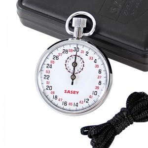 机械秒表金属外壳田径比赛矿井发条秒表计时器比赛训练学生实验训练训练私教提醒时间 灰色