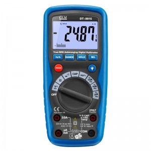 华盛昌(CEM)DT-9915 自动量程数字万用表欧姆表短路蜂鸣测试功能