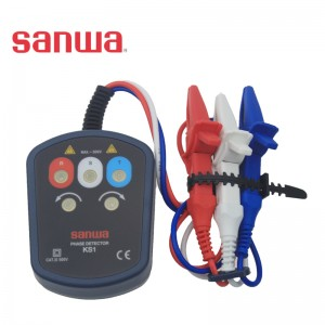 sanwa KS1相序表/日本三和 检测100-500V三相工业用电缺相/逆相/欠电压/过电压/相电压不平衡/火线设别等功能