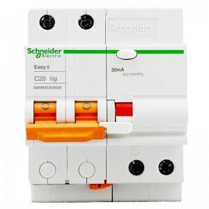 施耐德电气 带漏电保护断路器(A型) 空气开关 2PC20A EA9系列EA9RN2C2030CAR