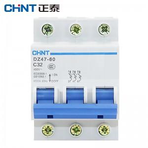 正泰(CHNT)DZ47-60-3P 空气开关 断路器 家用空开 电闸短路保护器 3P 40A
