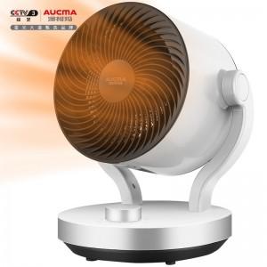 澳柯玛(AUCMA)俯仰90°暖风机/台地两用取暖器/办公室小型台式电暖器/家用空气循环电暖气NF20R906