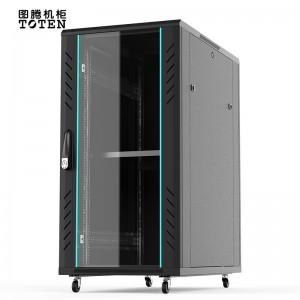 图腾(TOTEN)G2.6822 网络小机柜 22U加厚机柜 交换机机柜 UPS电源 19英寸机架机柜