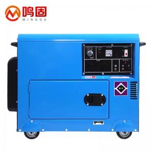 鸣固 10KW柴油发电机220V380V双电压家用自动发动机 双电压10KW豪华静音款电启动+烧柴油