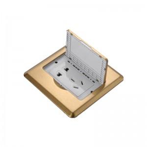 MEIGELIN 隐藏式地插全铜加厚防水五孔地插地面地板电源插座翻盖式二三5孔