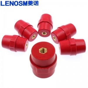 SM纺锤型绝缘柱引进绝缘子高低压绝缘柱配电箱零地排用红色绝缘子 SM76 孔M10