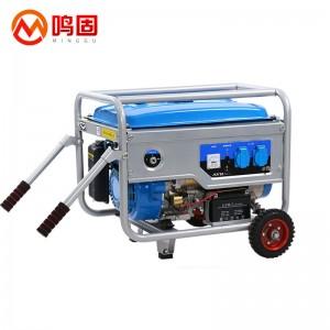 鸣固 10KW汽油发电机220v单相家用发电机 10KW电启动+烧汽油(带大轮款)