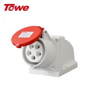 TOWE同为IP44防水 32A大功率工业连接器/移动插座/工业插头插座3芯4芯5芯防水航空插头插座 5芯32A 明装插座 IPS-S532S