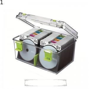 光盘储存盒220片CD盒大容量CD收纳盒箱架收纳箱防潮防尘 现货卡弗收纳盒(无) 现货