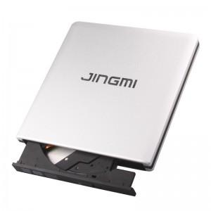 精米 USB3.0外置光驱 外接移动CD DVD刻录机 适用于联想戴尔苹果台式一体机笔记本电脑 铝合金银色