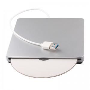 精米USB3.0吸入式蓝光光驱 外接移动DVD刻录机 台式笔记本通用 适用于苹果电脑