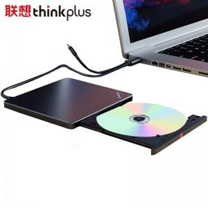 联想Thinkthinkplus外置移动光驱光盘dvd刻录机笔记本电脑外置usb光驱超薄 USB+Type-C双接口 8倍数高速读刻免驱动