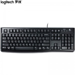 罗技(Logitech)K120 键盘 有线键盘 办公键盘 全尺寸 黑色  U口